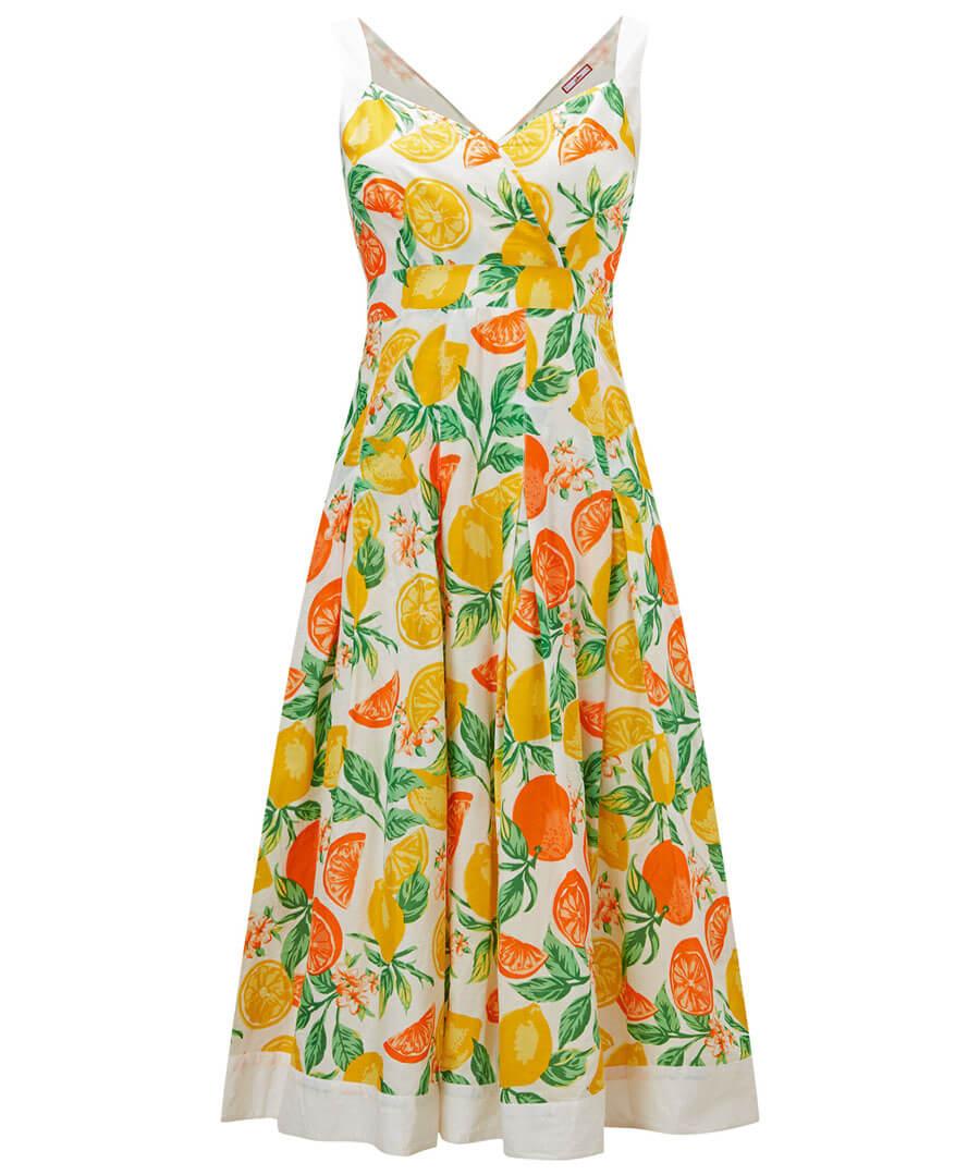 Oranges And Lemons Dress Model Front