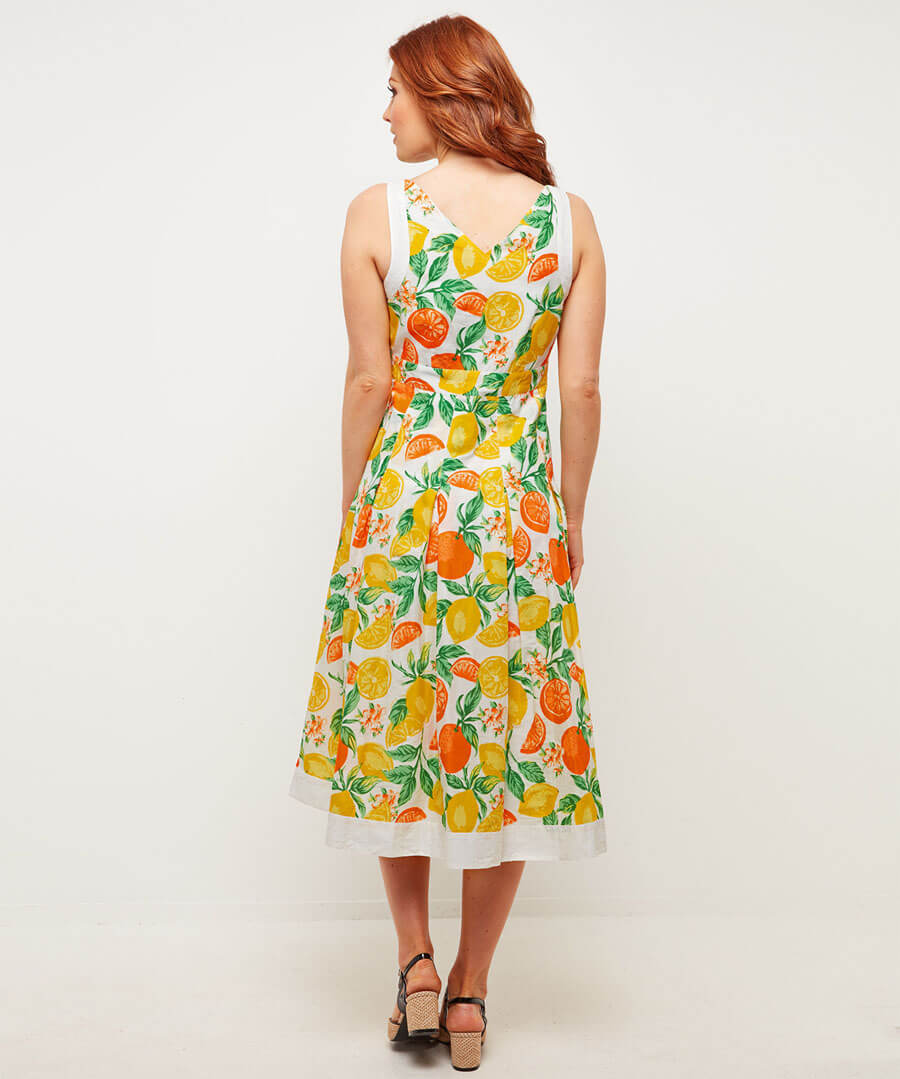 Oranges And Lemons Dress Model Back
