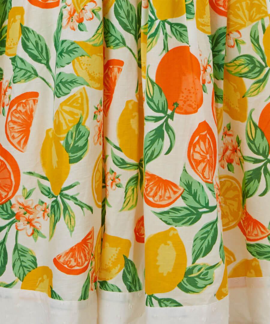 Oranges And Lemons Dress Back