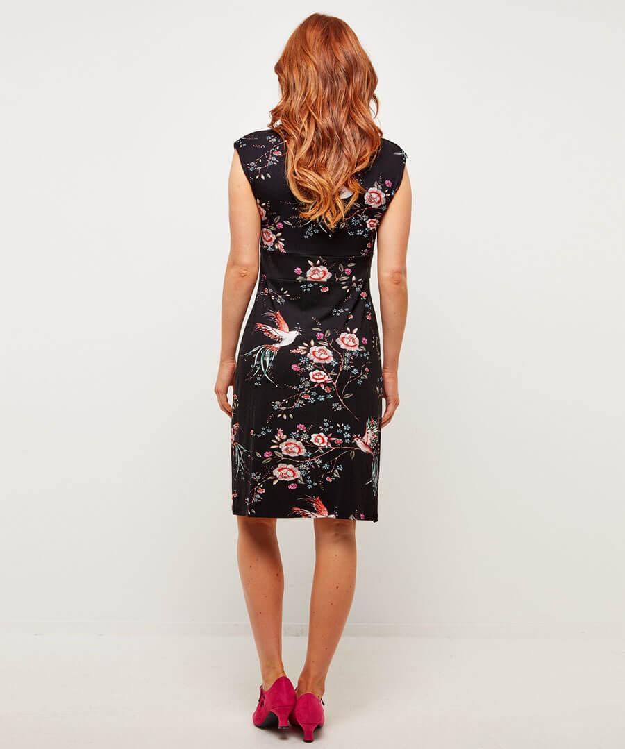 New Amazing Print Dress Model Back
