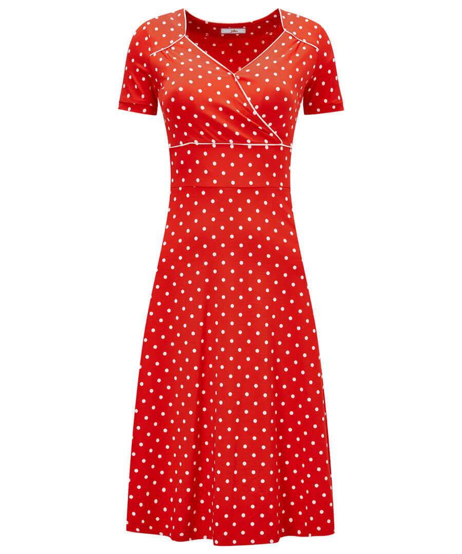 Perfect Polka Dot Jersey Dress Model Front