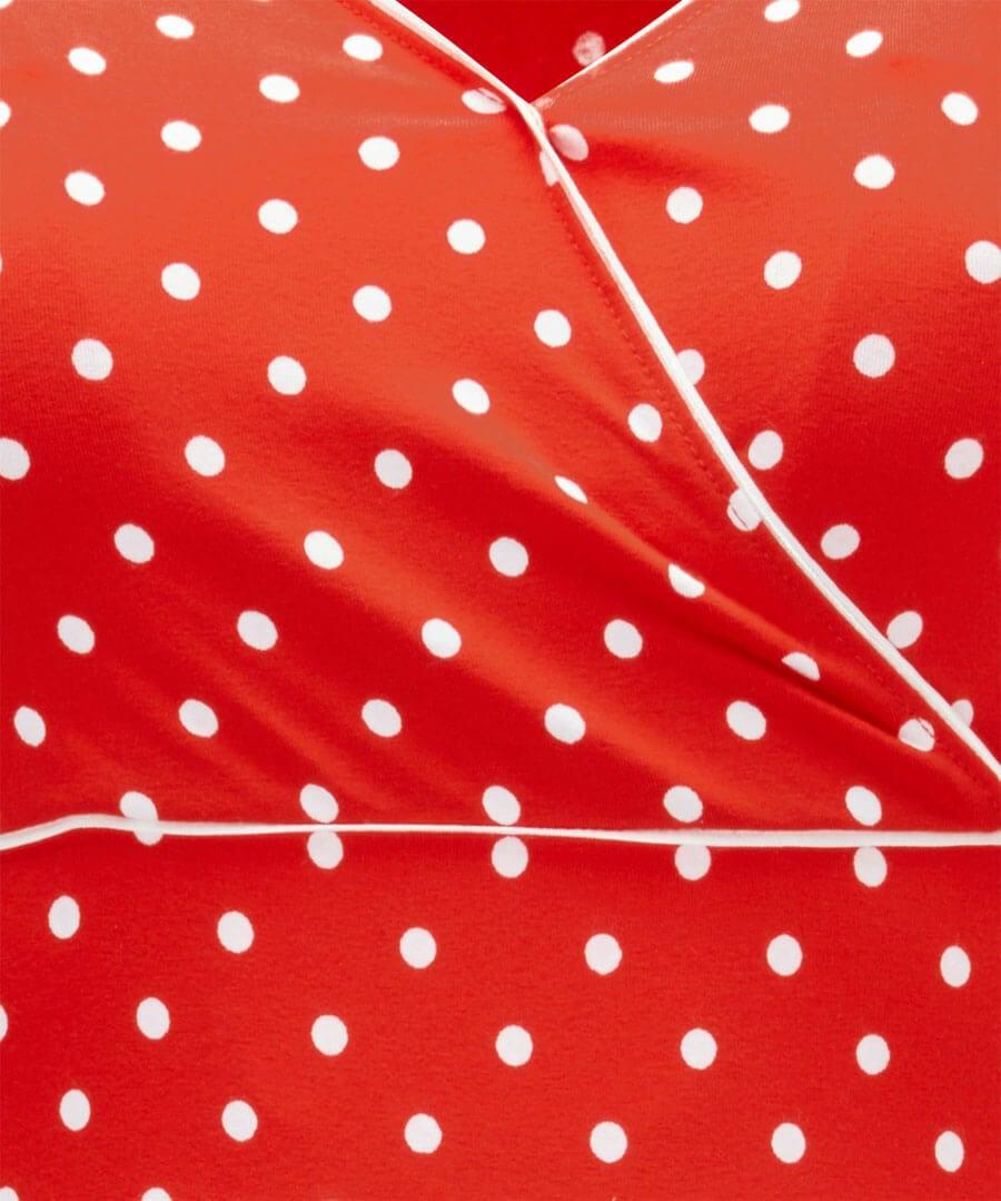 Perfect Polka Dot Jersey Dress Back