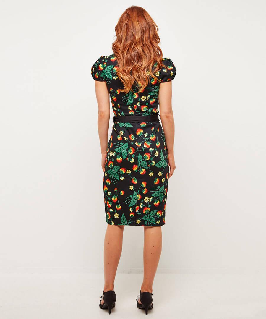 Strawberry Dream Dress Model Back