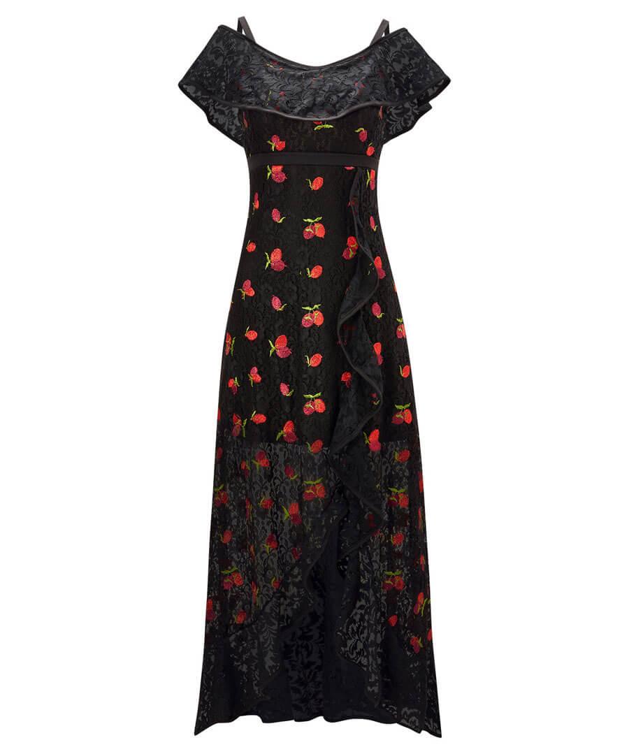 Fruity Flamenco Lace Dress Model Front