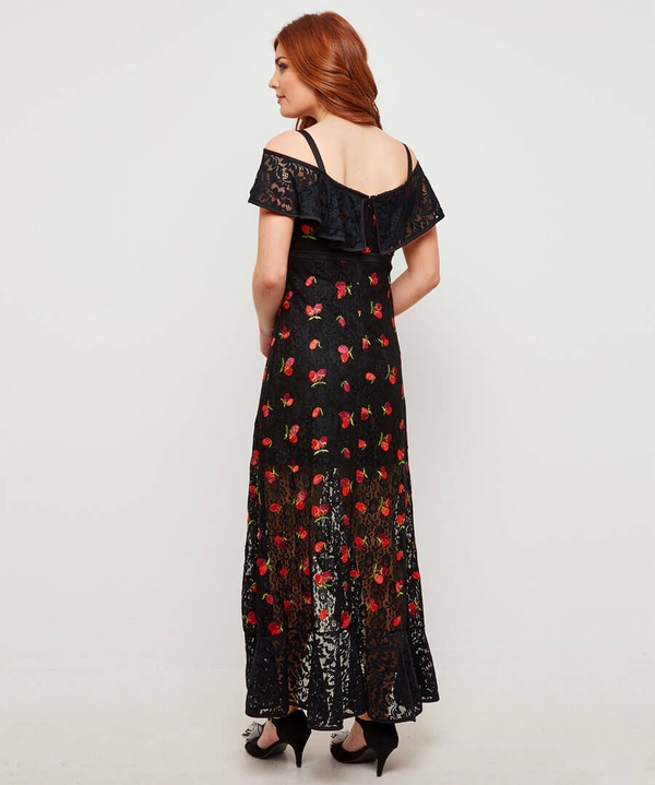 Fruity Flamenco Lace Dress