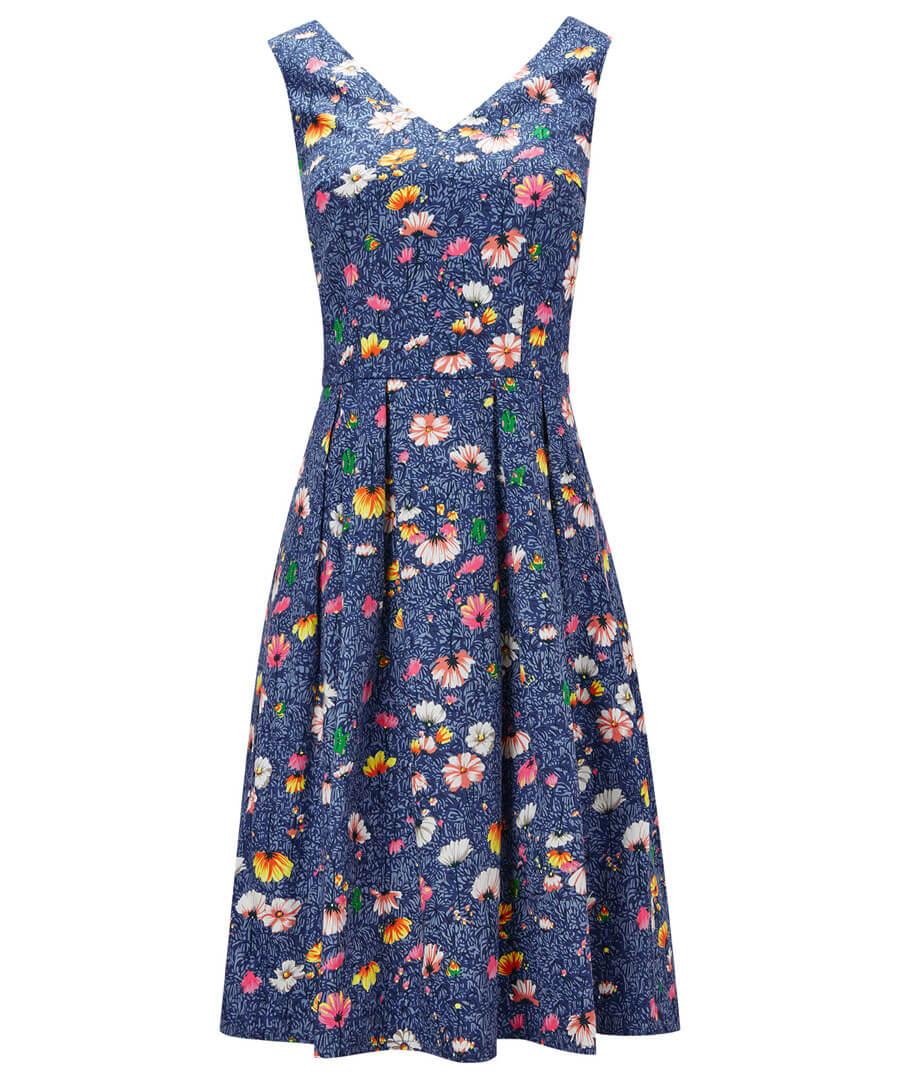 Fancy Floral Dress Model Front