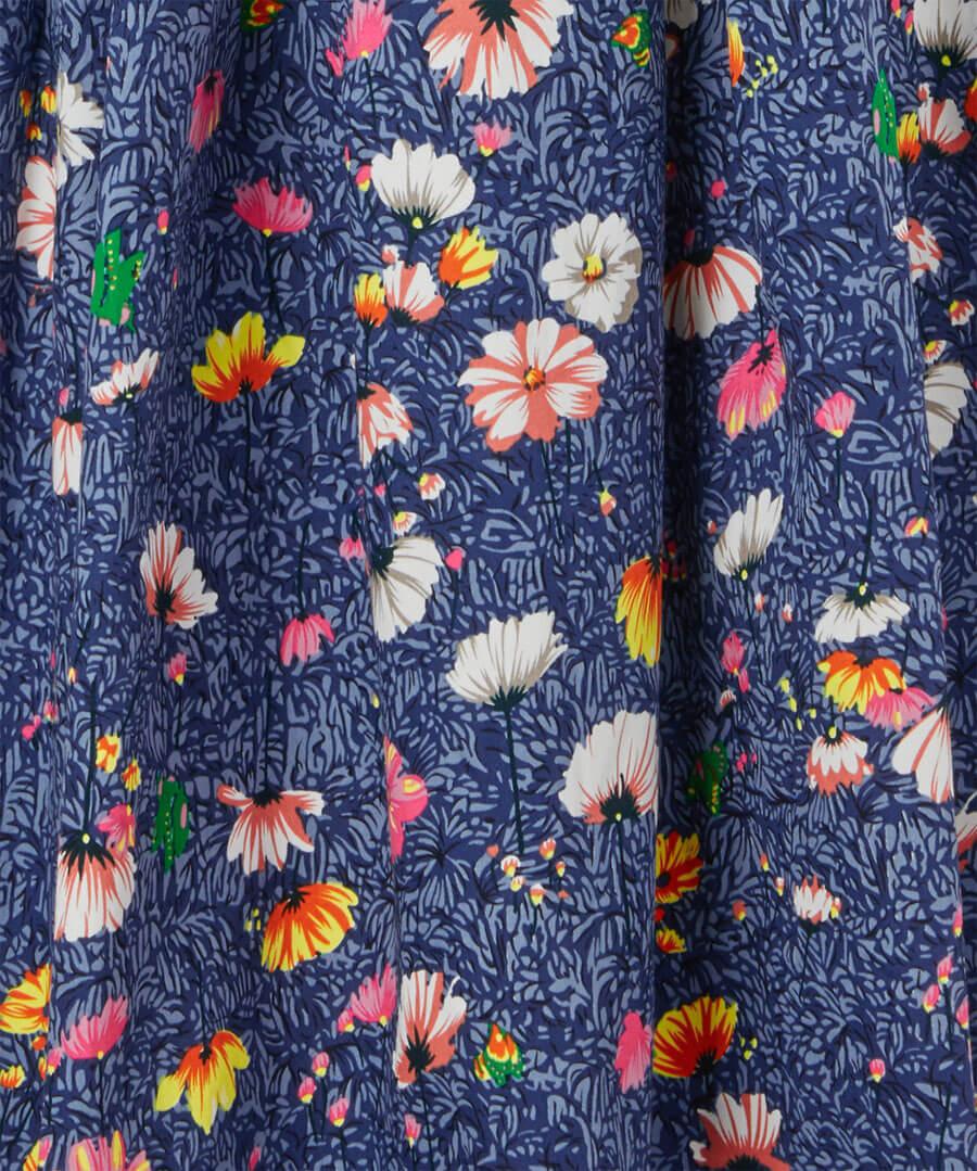 Fancy Floral Dress Back