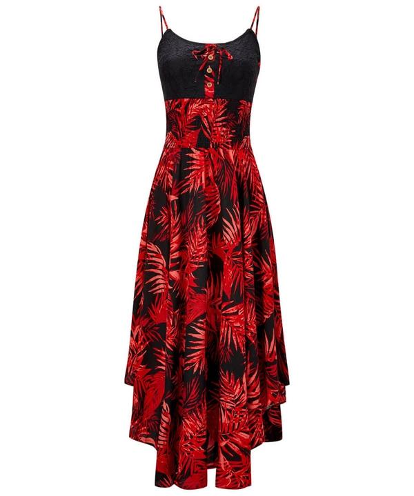 Fiery Palm Dress