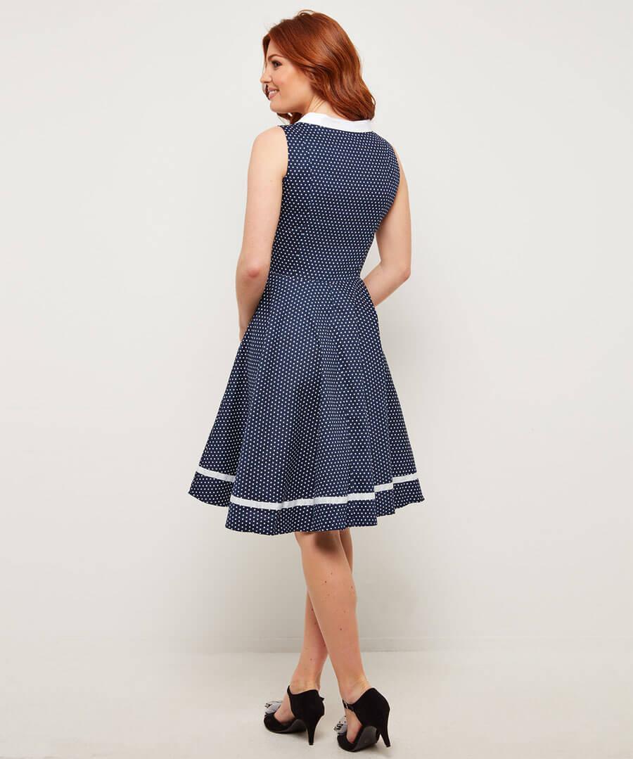 Vintage Dancer Dress Model Back