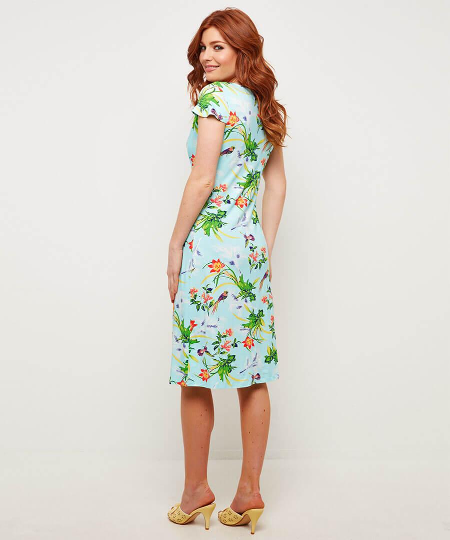 Sizzling Tropics Dress Model Back