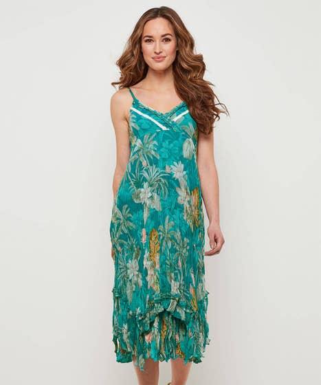 Tropical Crushed Cami Dress