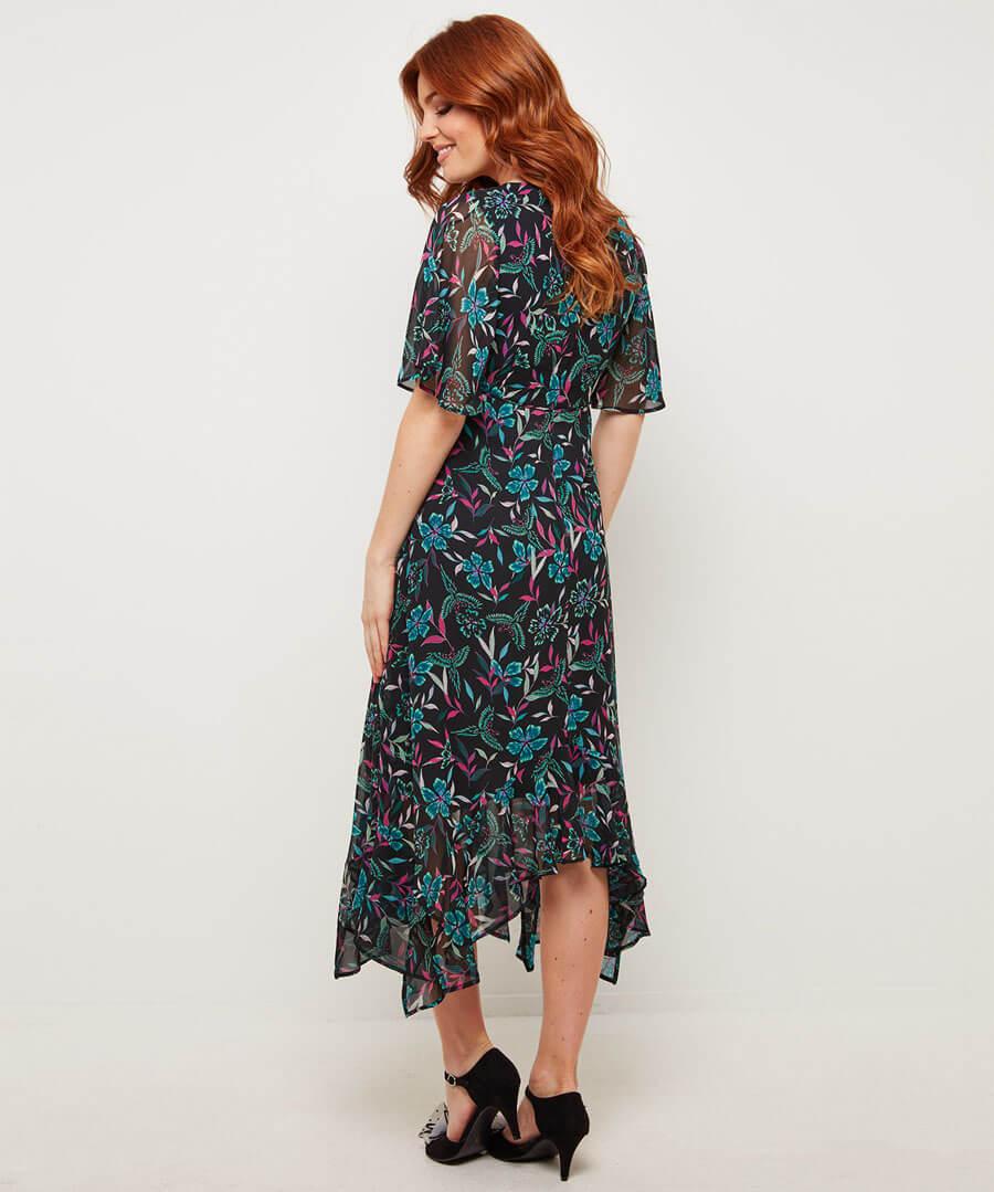 Unique Bird Dress Model Back