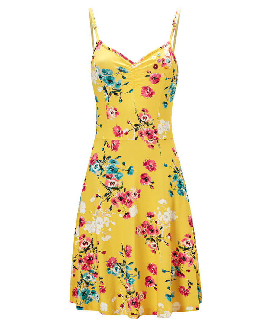 Mellow Floral Dress Model Front
