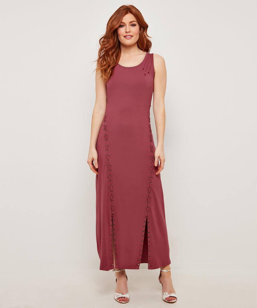 Unique Lace Up Maxi Dress