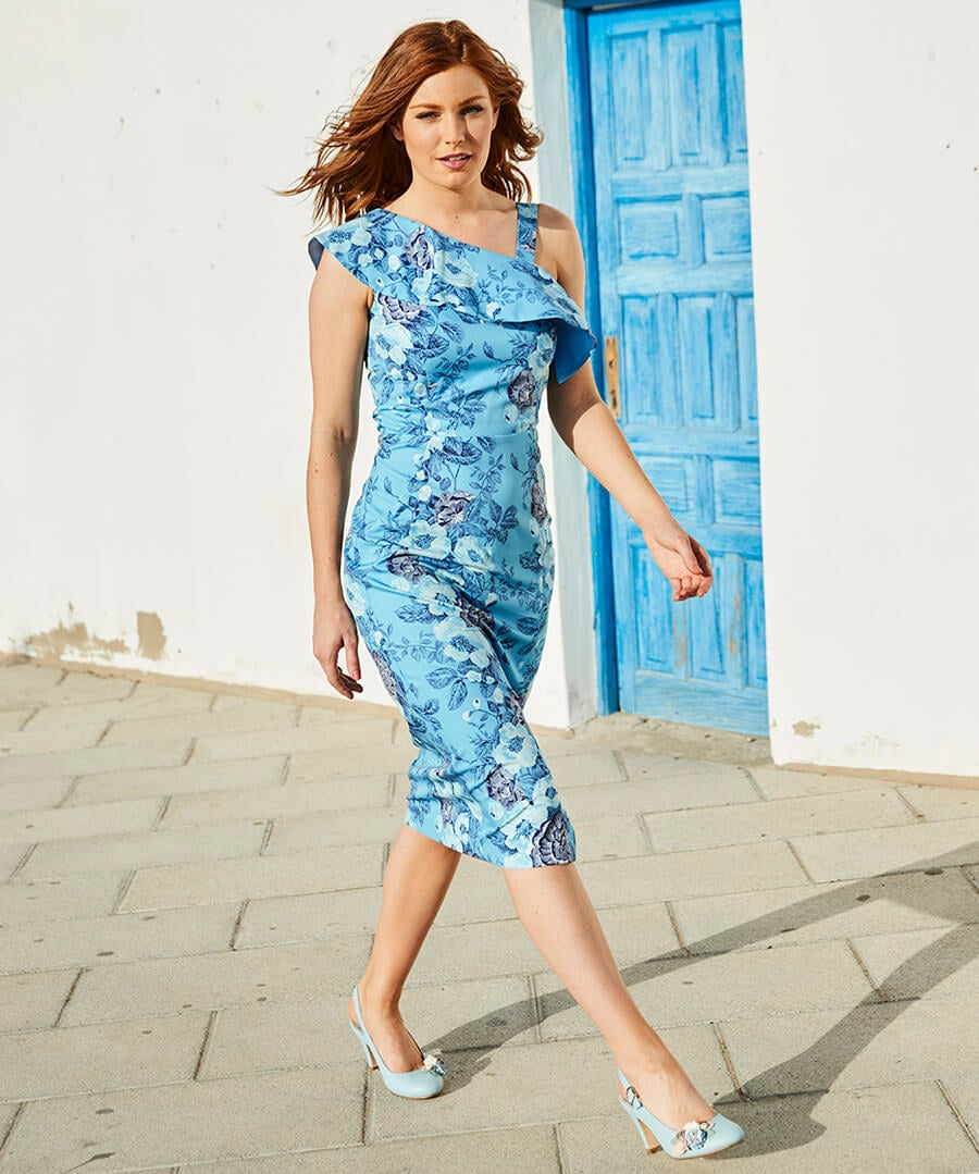 Amazing Asymmetric Dress Model Front