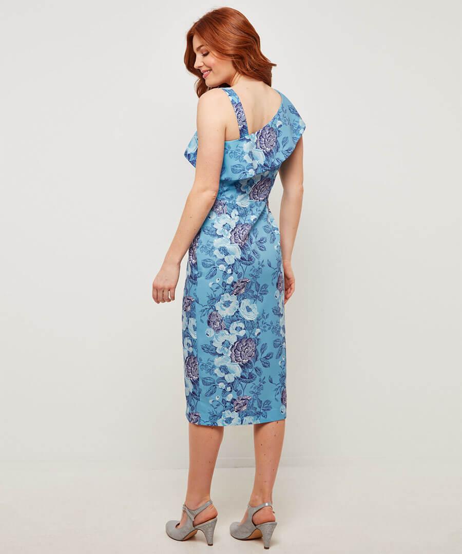 Amazing Asymmetric Dress Model Back