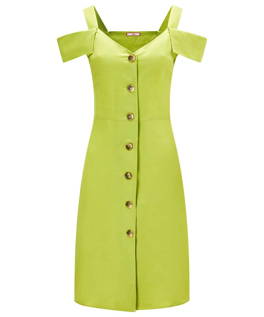 Lovers Lime Dress Model Front