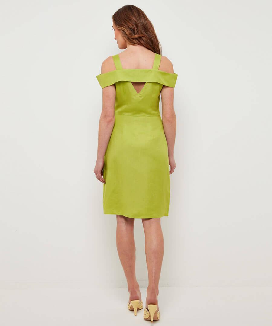 Lovers Lime Dress Model Back