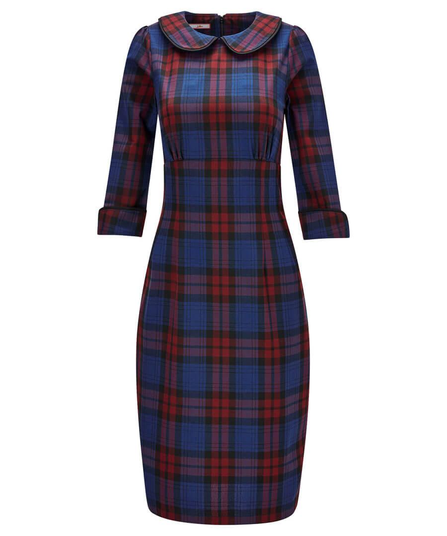 Vintage Check Dress Model Front