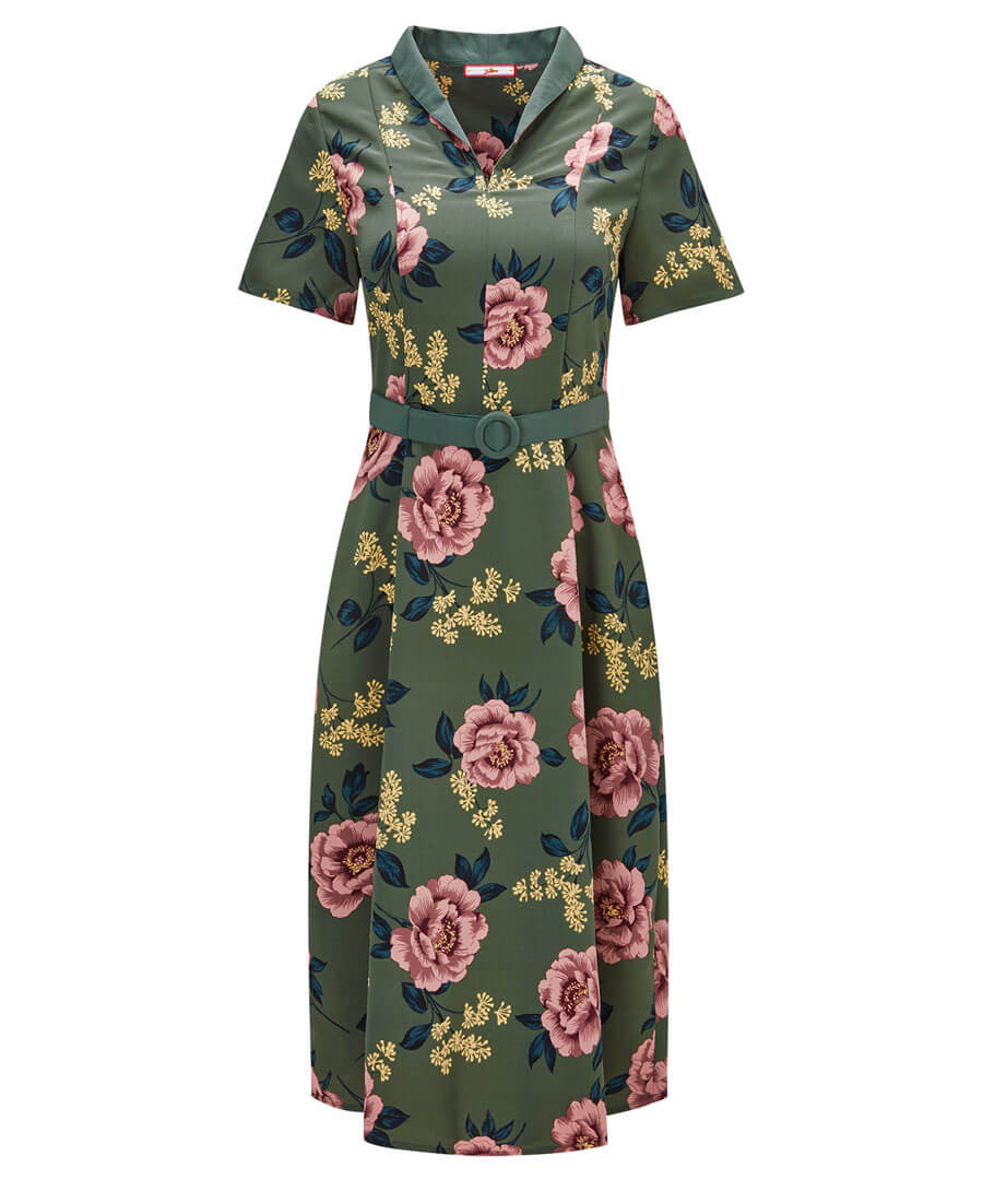 Beautiful Belted Dress Model Front