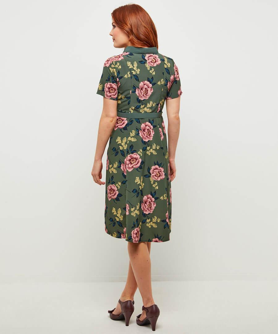Beautiful Belted Dress Model Back