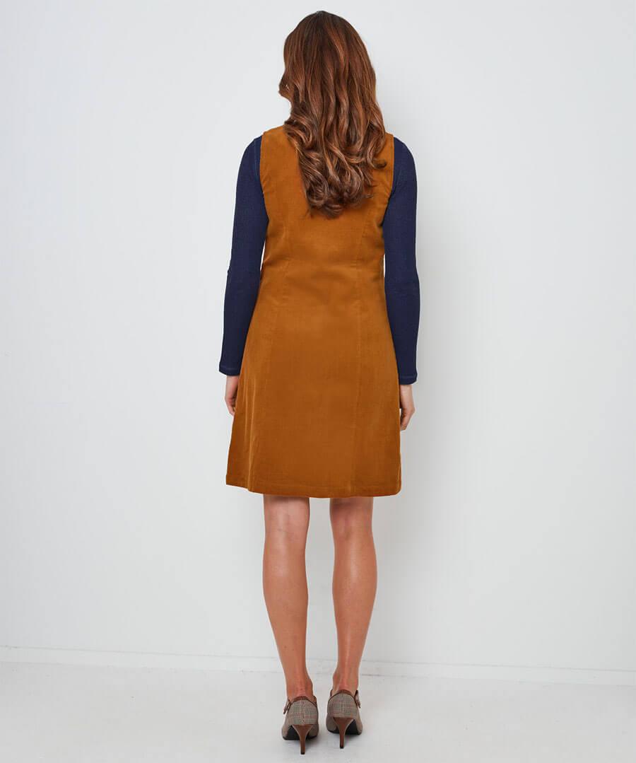 Perfect Cord Dress Model Back