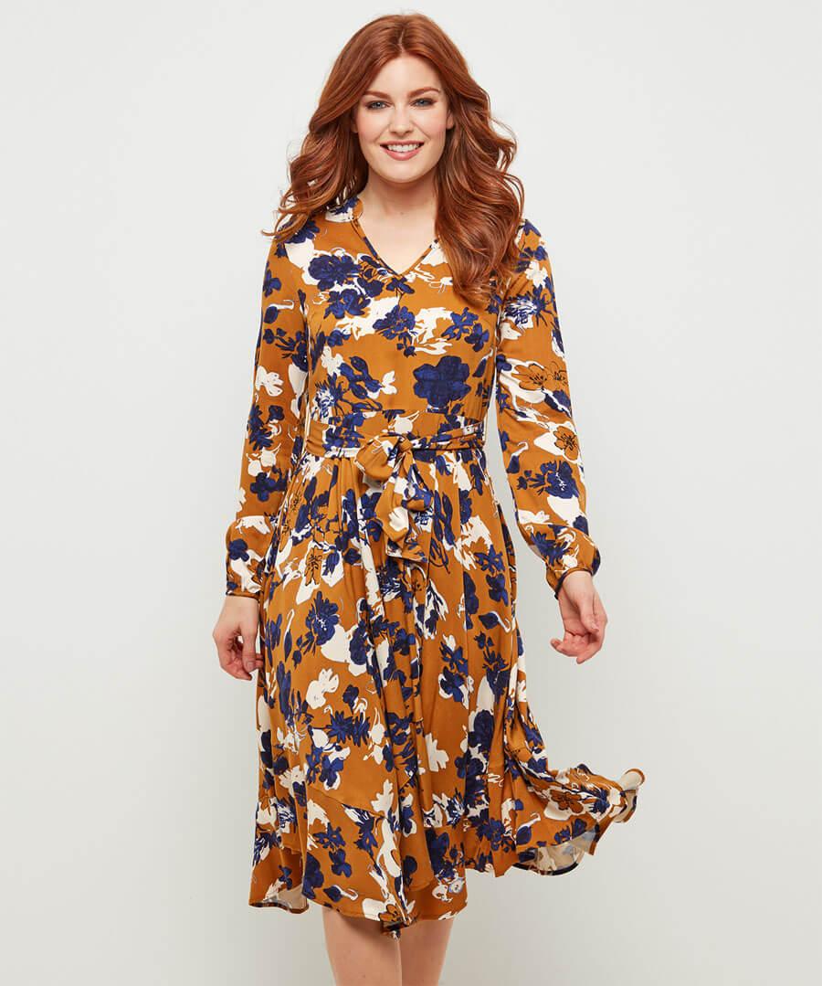 Marvellous Floral Dress Model Front