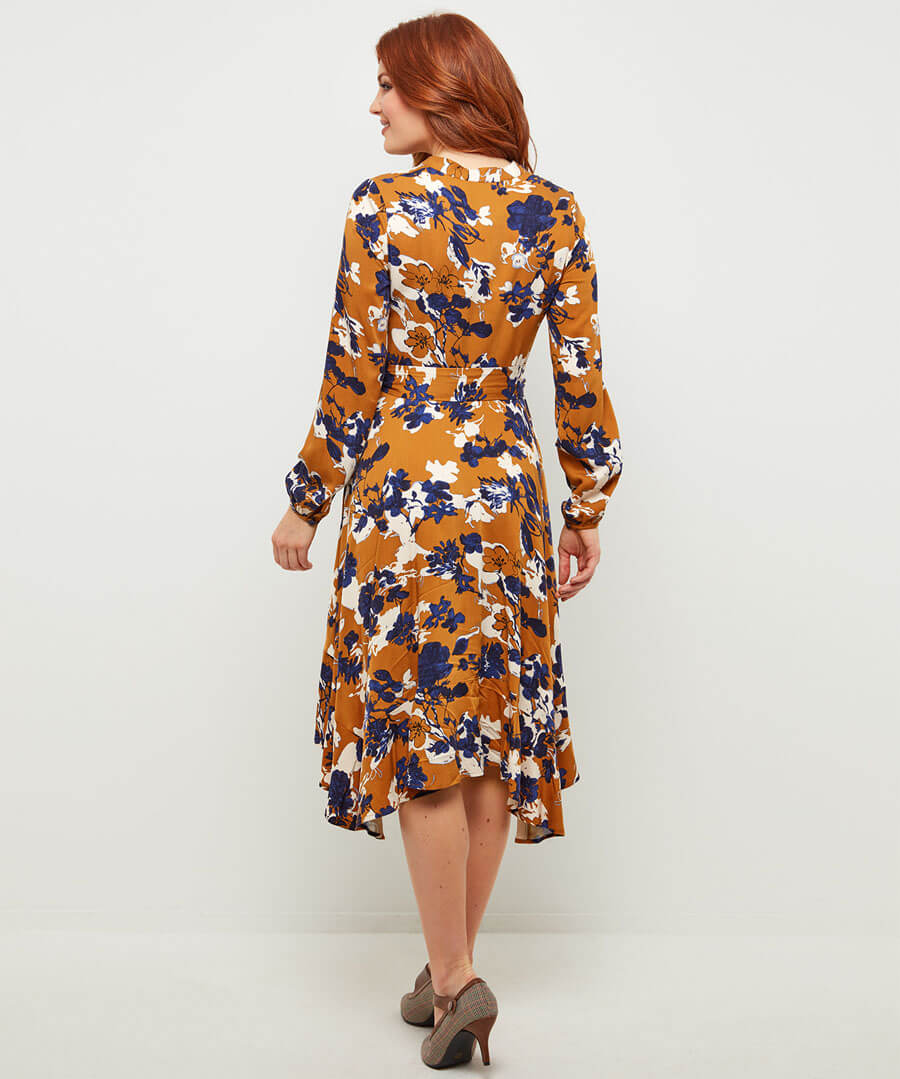Marvellous Floral Dress Model Back
