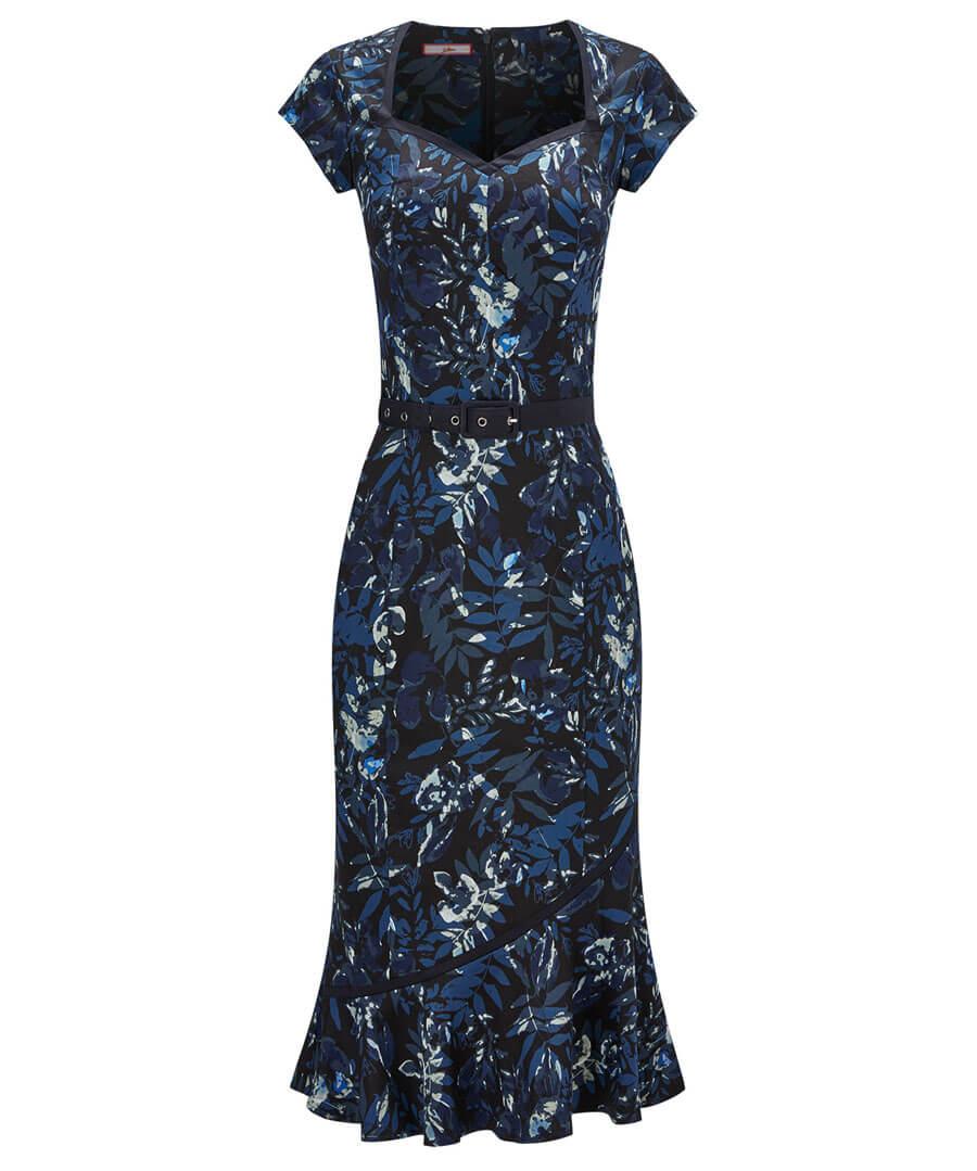 The Bop Floral Dress Model Front