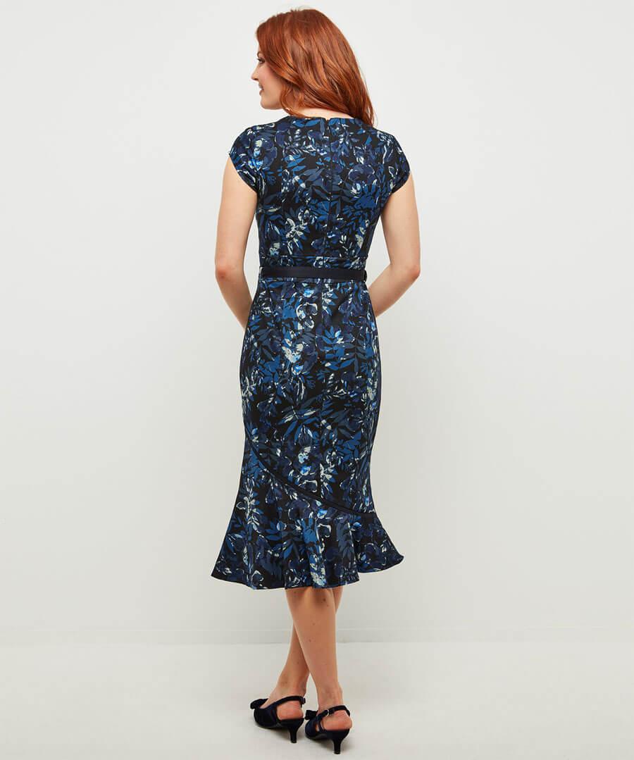 The Bop Floral Dress Model Back
