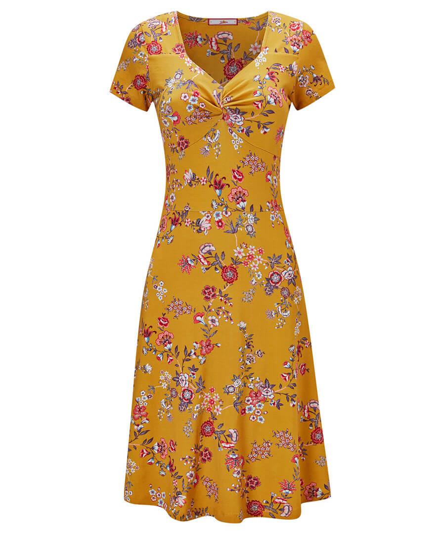Dainty Floral Dress Model Front