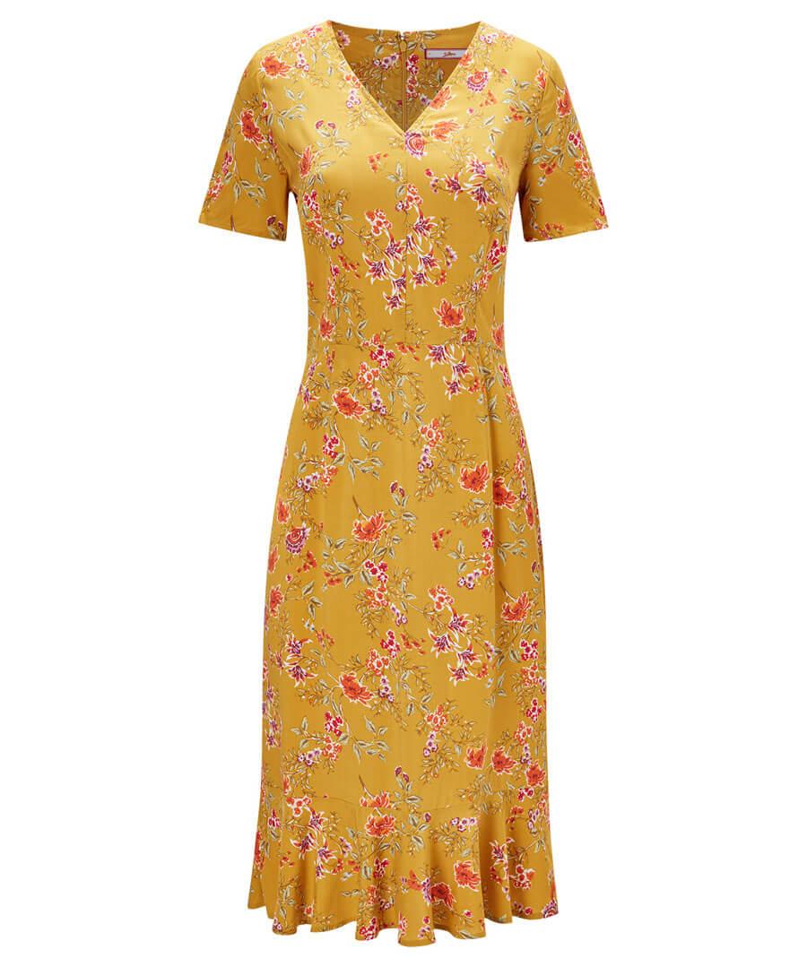 Vintage Florals Dress Model Front