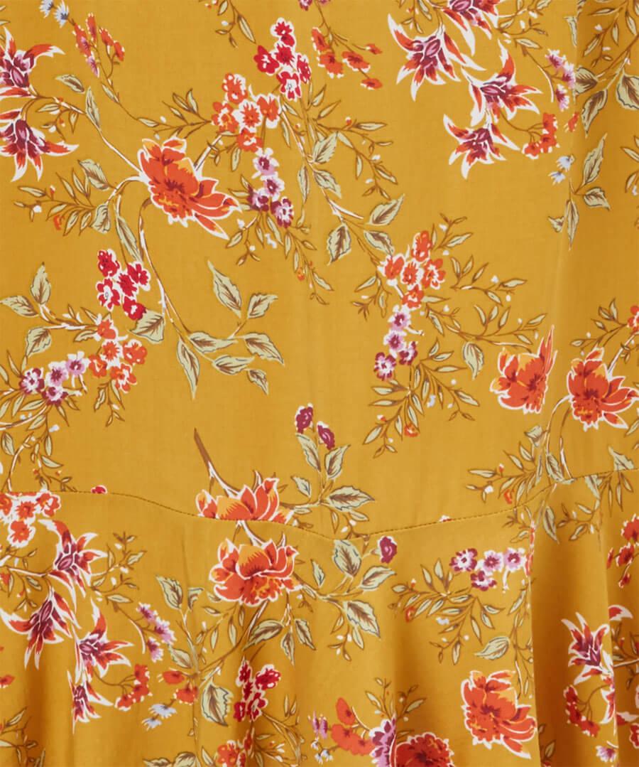 Vintage Florals Dress Back