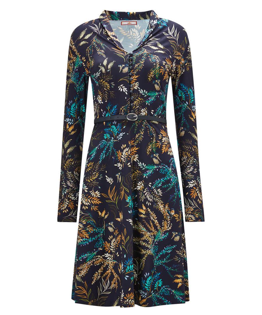 Truly Elegant Floral Dress Model Front