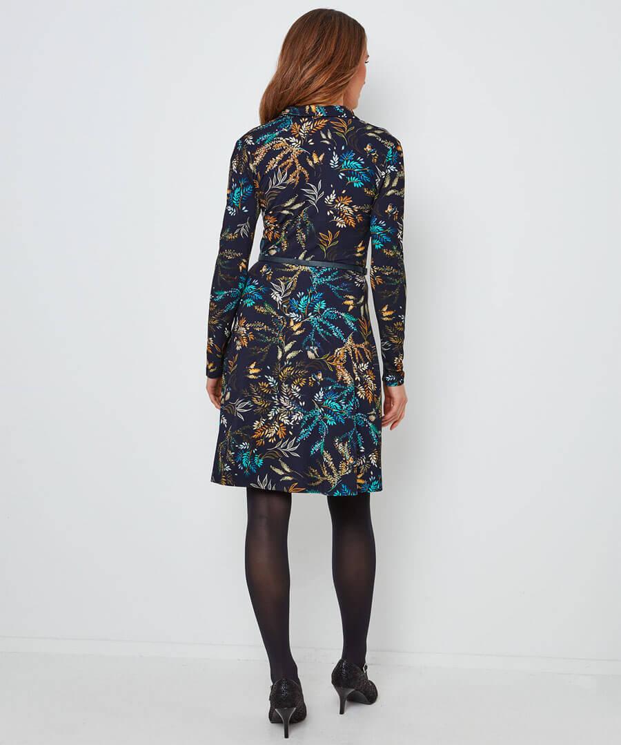 Truly Elegant Floral Dress Model Back