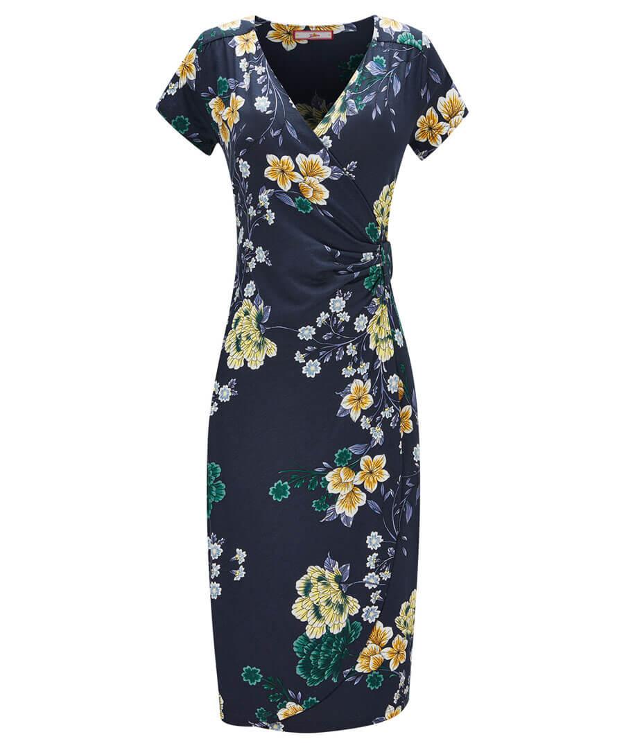 Evening Florals Dress Model Front