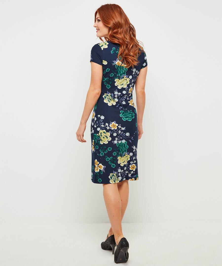 Evening Florals Dress Model Back