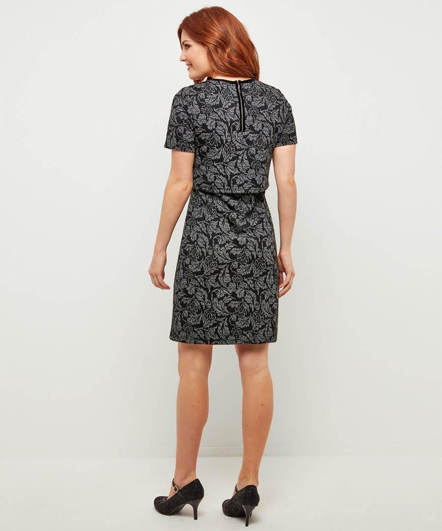 2 In 1 Jacquard Dress Model Back