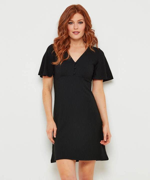 Ribbed Jersey Tea Dress
