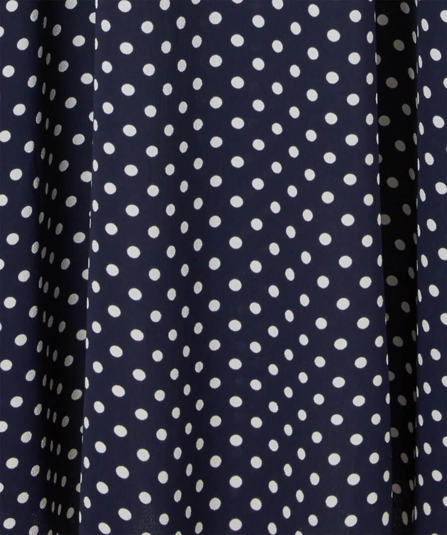 Bubble Crepe Polka Dot Dress Back