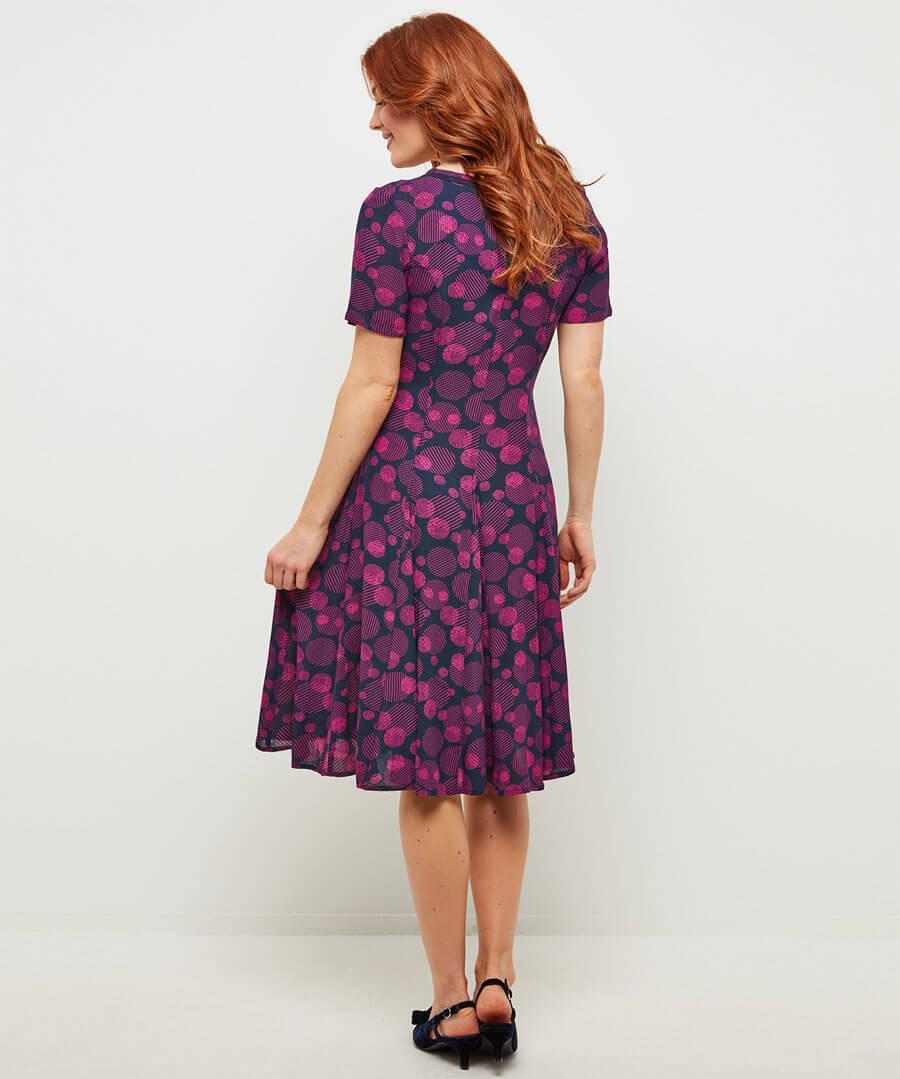Perfect Button Through Dress Model Back
