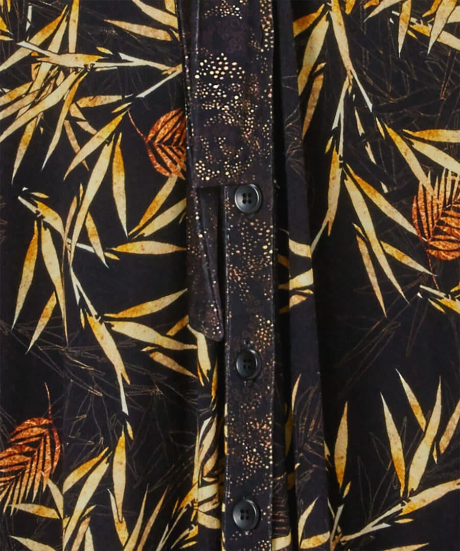 Autumnal Palm Jersey Dress Back