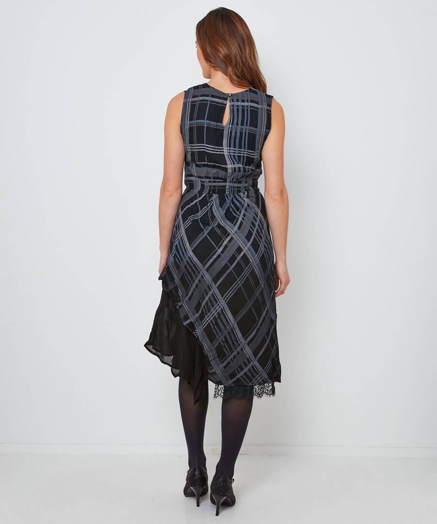 Cheeky Check Dress Model Back