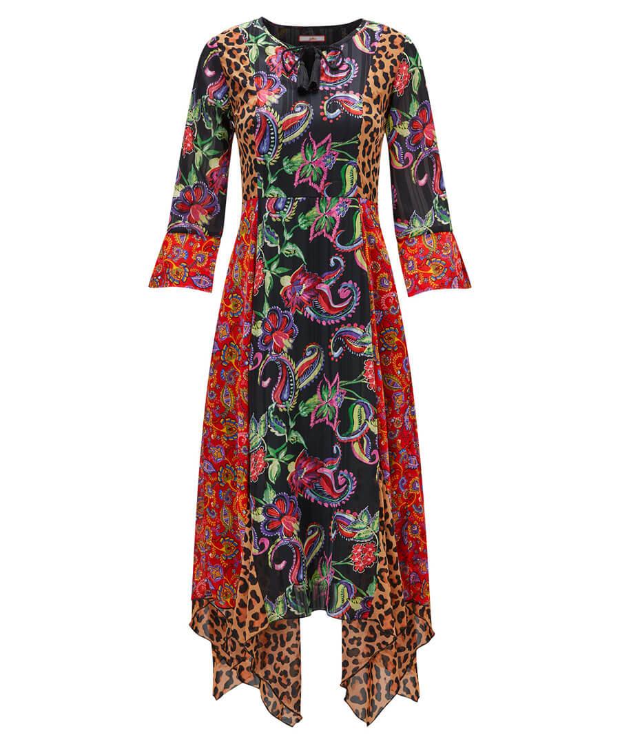 Dippy Hem Dress Model Front