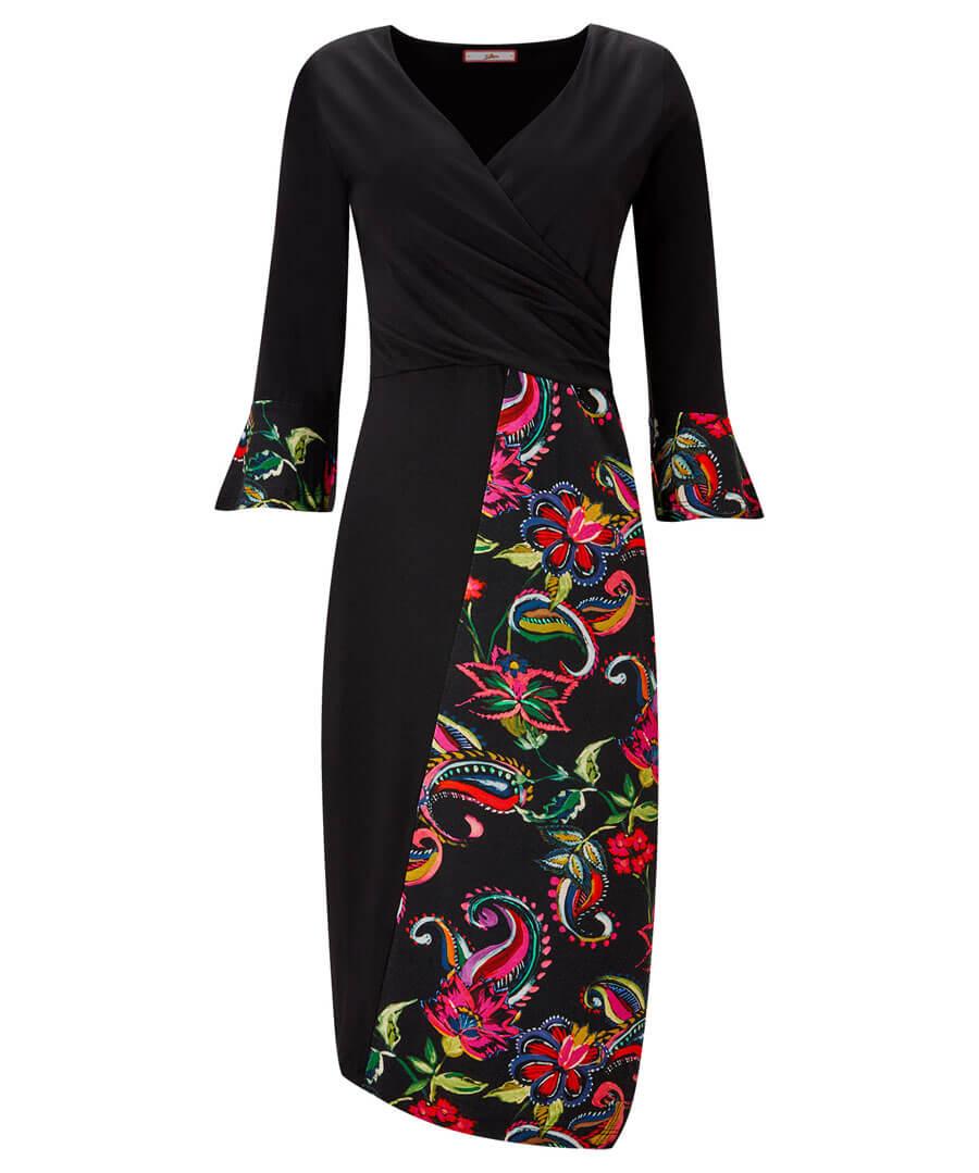 Pop Of Print Dress Model Front