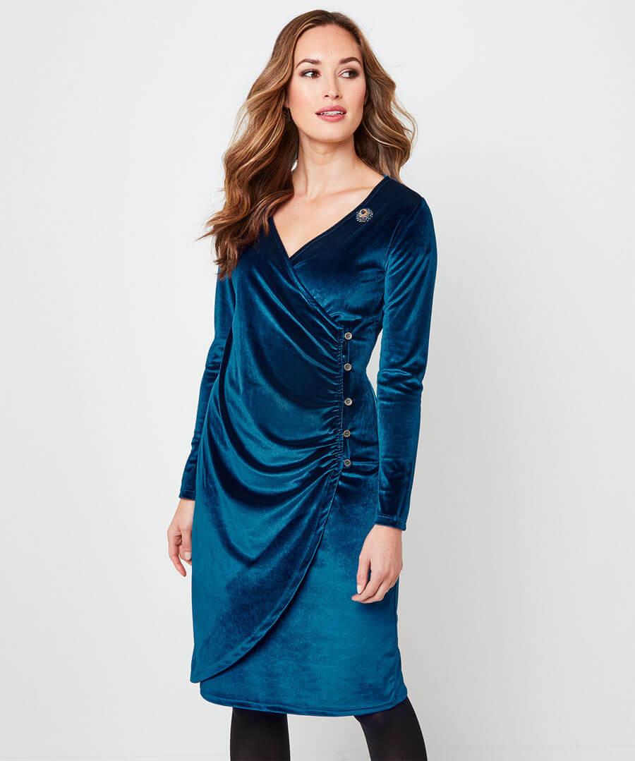Velvet Party Dress Model Front