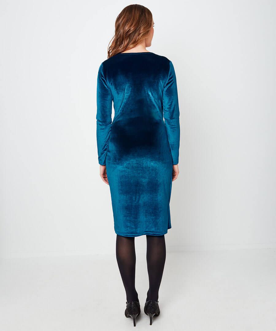 Velvet Party Dress Model Back
