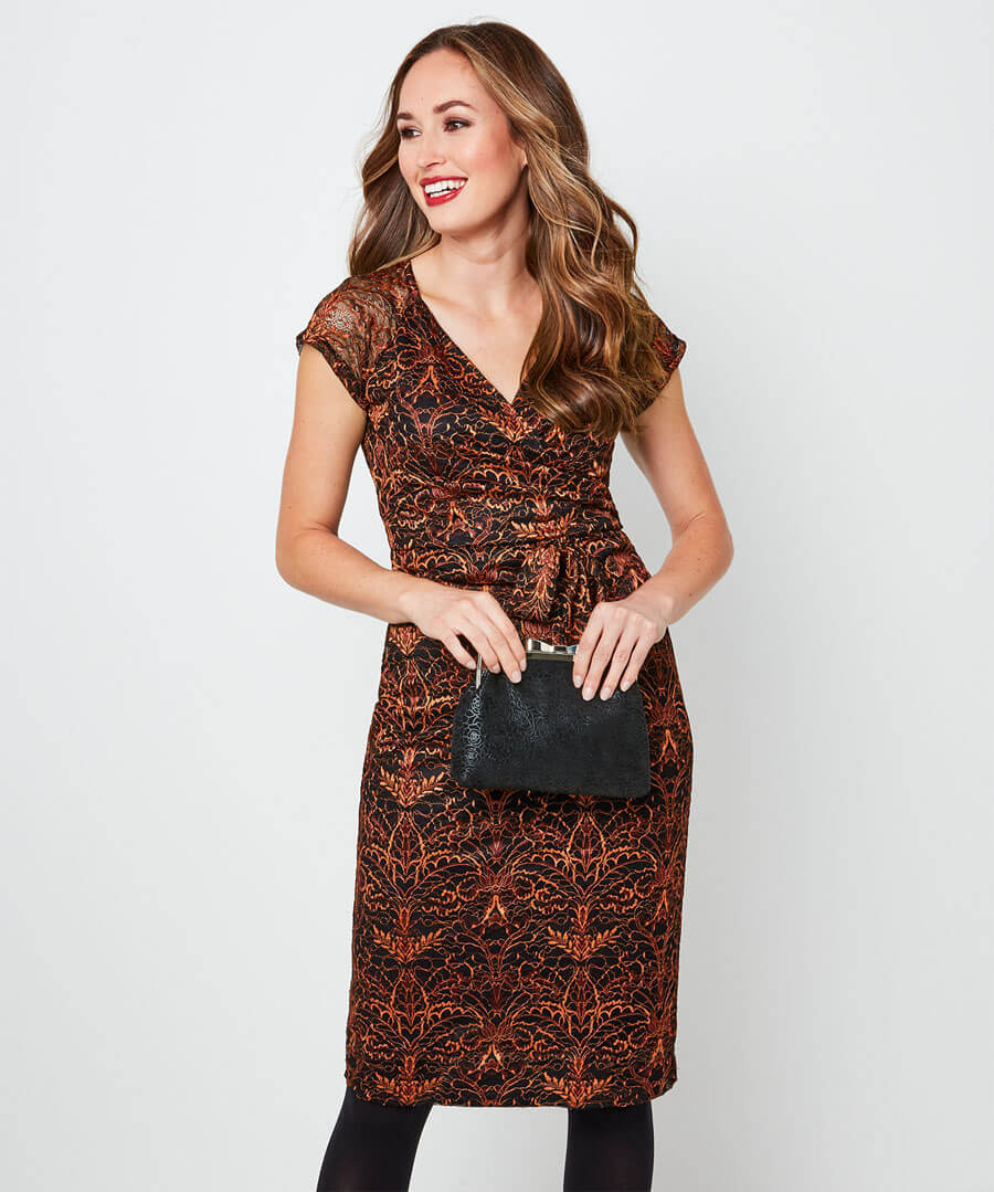 Alluring Lace Dress Model Front