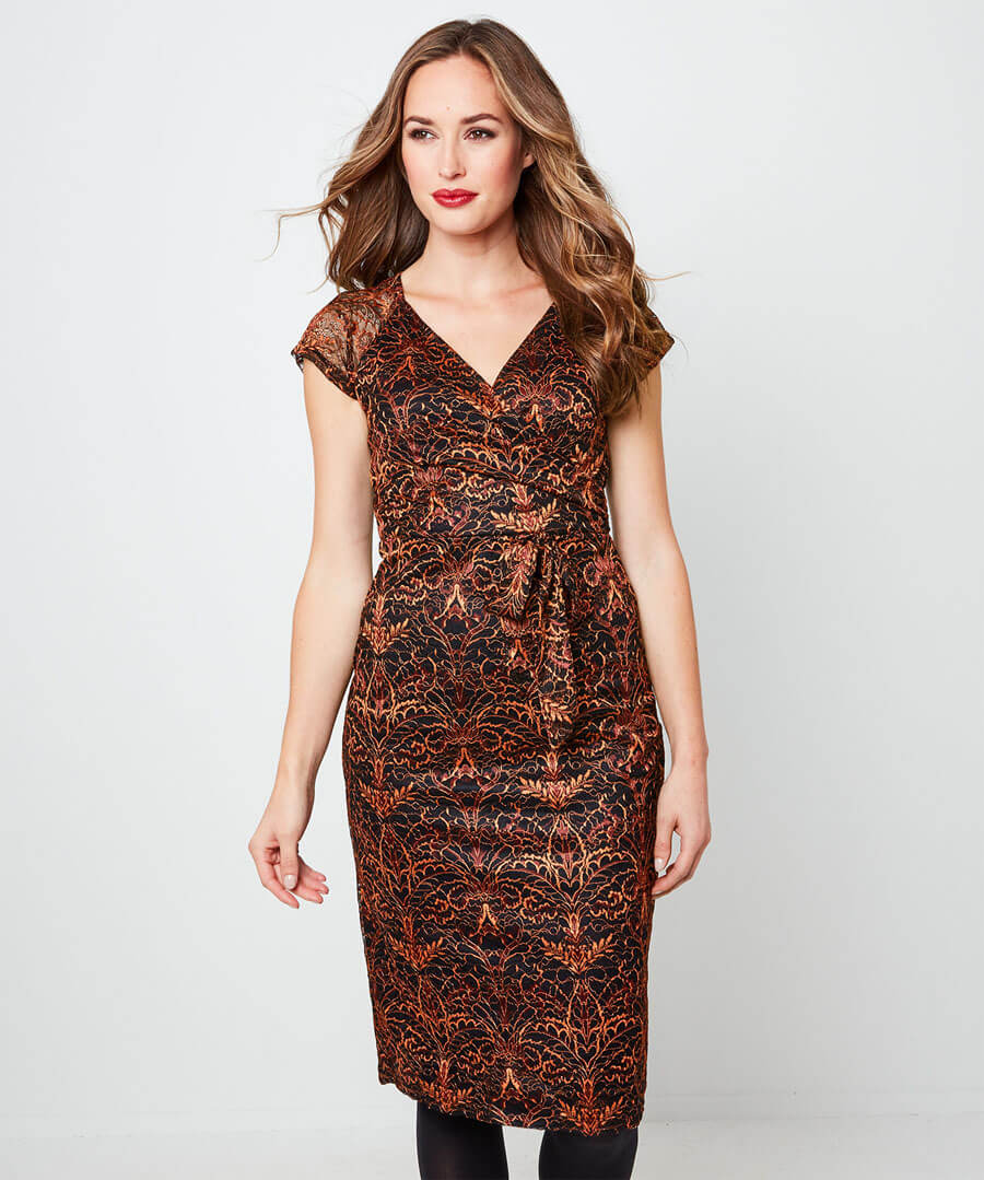 Alluring Lace Dress Back