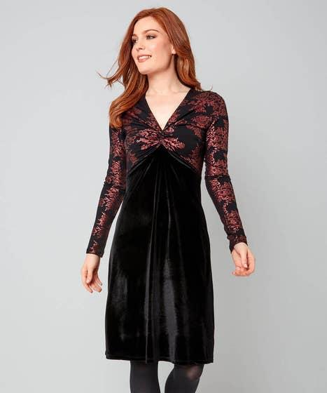 Vivid Velvet Dress